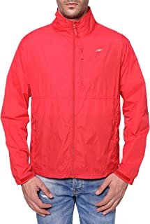 Men's Standard Water-Repellent Nylon Windbreaker Front-Zip up Jacket