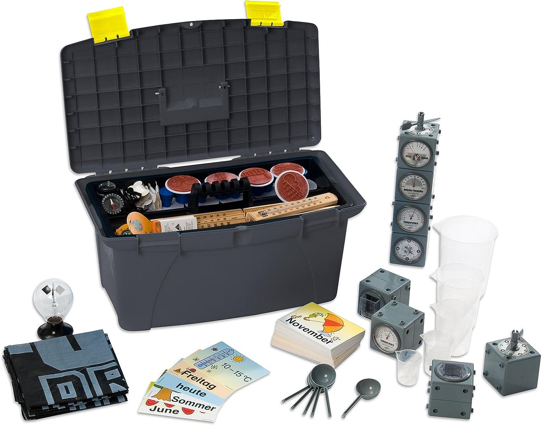 Betzold 83960 - Projekt-Box Sonne, Wind & Wetter - Experimentier-Koffer, Lehrmittel, Wetterstation