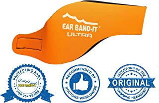 Ear Band-It Ultra Swimming Headband - Best Swimmer's Headband - Keep Water Out, Hold Earplugs in - Doctor Recommended - Secure Ear Plugs - Invented by ENT Physician