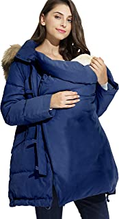Sweet Mommy Maternity Baby Carrier Babywearing Warm Down Coat with Removable Panel