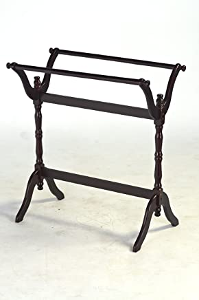 featured product Frenchi Home Furnishing Quilt/Blanket Rack,  Espresso Finish