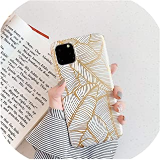 高級シリコン電話ケースFor iphone 11ホットスタンプ葉バックカバーFor iphone 7 8 6 6 sプラス For iphone XR Xs Max 11 Pro,For iphone 6 6S,Leaf