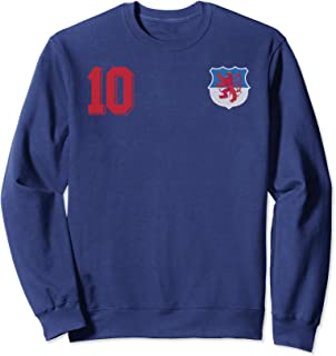 Luxembourg or Letzebuerg in Football or Soccer Design Sweatshirt