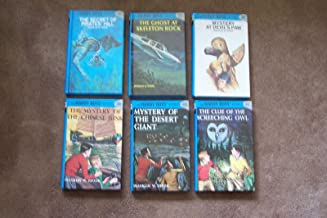 Hardy Boys Set 36-41 (Secret of Pirates' Hill ~ Ghost at Skeleton Rock ~ Mystery at Devil's Paw ~ Mystery of the Chinese Junk ~ Mystery of the Desert Giant ~ Clue of the Screeching Owl)