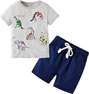 Toddler Boys Summer Clothes Kids Short Sleeve Outfits...
