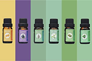 Sponsored Ad - Kisekii 100% Pure Essential Aromatherapy Oils - Peppermint,Lavender,Eucalyptus,Tea Tree,Lemongrass,Orange O...