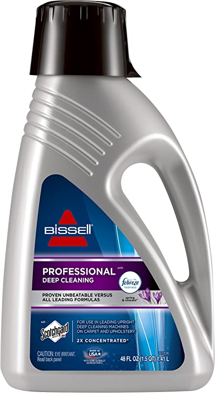 Bissell Professional Deep Cleaning With Febreze Freshness Spring Renewal 2515A 48 Ounces Carpet Ceaning Formula 48 Oz