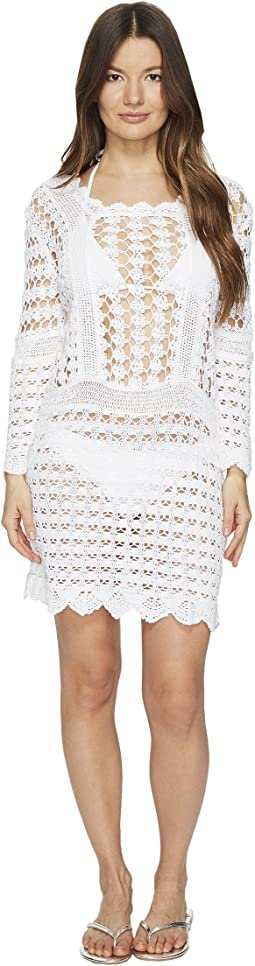 Crochet Long Sleeve Cover-Up