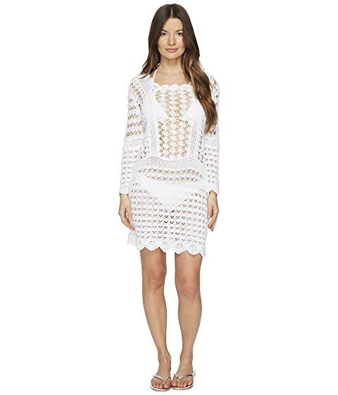 Letarte Crochet Long Sleeve Cover-Up