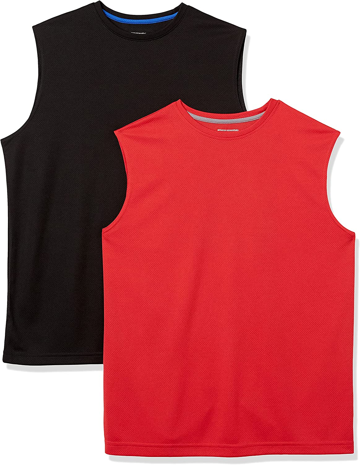 Amazon Essentials Men's Louisville-Jefferson Fort Worth Mall County Mall 2-Pack Muscle T-Shirts Performance