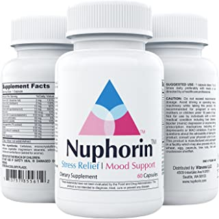 NUPHORIN | Anxiety Supplements and Stress Relief | All Natural Herbal Blends, Ashwagandha Root Powder Extract, Vitamins B,...