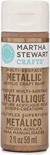 Martha Stewart Crafts Multi-Surface Metallic Acrylic Craft Paint in Assorted Colors (2-Ounce), 33002 Rose Copper