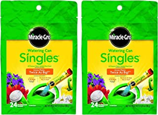 Miracle-Gro 1013203 Watering Can Singles All Purpose Water Soluble Plant Food, 24-8-16, 24-Sticks (2)