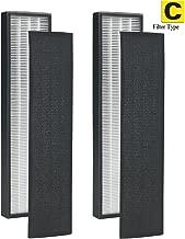 LSE Lighting 2Pack - True HEPA Replacement Filter for GermGuardian FLT5000/FLT5111 AC5000 Series Filter C Germ Guardian