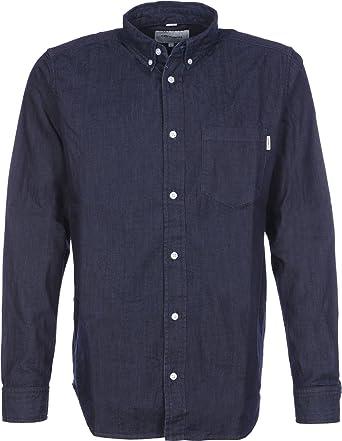 Carhartt L/S Civil Shirt Camisa, Azul (Blue Rinsed), S para ...