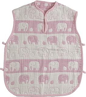 【日本制】渡嘉毛织 5层纱布的蓬松北欧睡衣(大象图案) 粉色 フリー