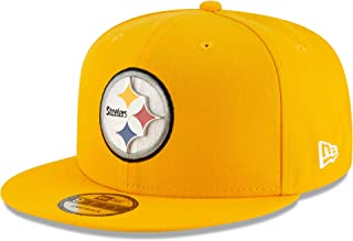 New Era Pittsburgh Steelers Metal and Thread 9FIFTY Snapback Adjustable NFL Hat