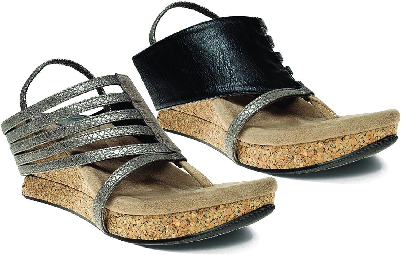 Modzori Elara Women's Mid Wedge Reversible Twister Sandal