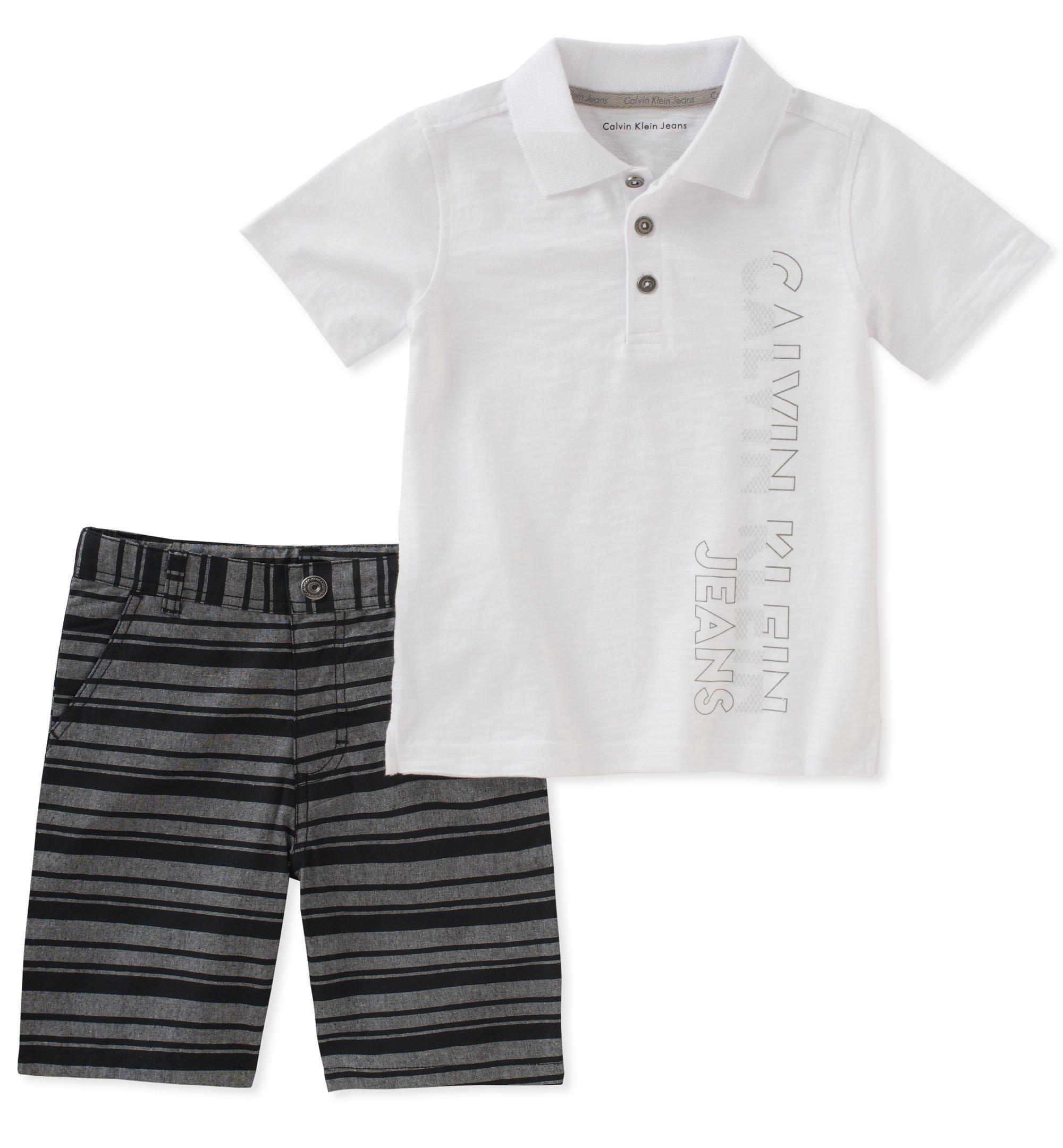 カルバンクラインボーイ2ピースPOLOシャツショートパンツセット