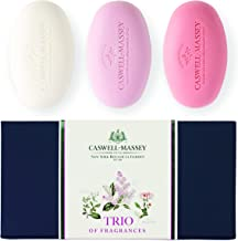 product image for Caswell-Massey Trio of Fragrances Luxury Bath Soap Set – Includes Lilac, Gardenia, Honeysuckle – Each Lilac/Gardenia/Honeysuckle 9.75 Ounce (Pack of 3)