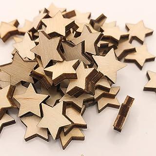 50 Stück Mini Holz Sterne Deko Streudeko Holzsterne Dekoration Weihnachten Mini Sterne