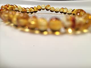 Baltic Amber Bracelet for Adults Polished Lemon Stretch Boy Girl Unisex Man Woman Certified Authentic. Anti-inflammatory, Reduction in Inflamation Symptoms Such As Carpal Tunnel, Back Aches, Head Aches, Tooth Aches, Swelling, General Aches and Pains. Highest Quality Helps with soothing and insomnia, stress, and some reflux & eczema. Helps some with stress, anxiety, eczema, acid reflux, gut issues, and heartburn.