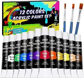 WOSTOO Akrylfärgset 12 x 12 ml