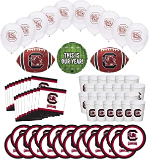 Mayflower Products South Carolina Gamecocks Football Tailgating Party Supplies for 20 Guest and Balloon Bouquet Decorations