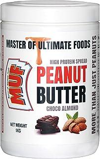 MUF Peanut Butter (Choco Almond) Crunchy   1KG   HIGH Protein   Vegan