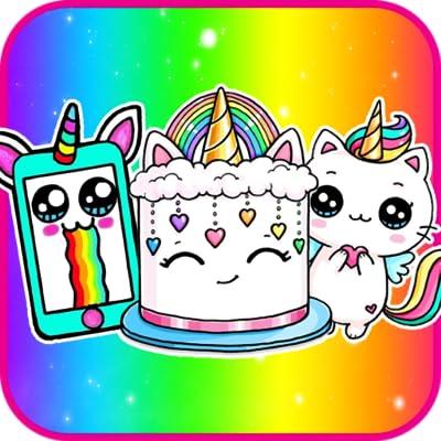 How To Draw Cute Things School Supplies Squishies Unicorn from Qudev LLC