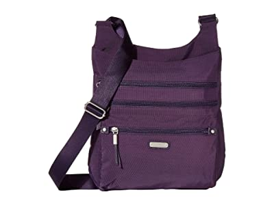 Baggallini New Classic Around Town Bagg with RFID Phone Wristlet (Grape Jelly) Bags