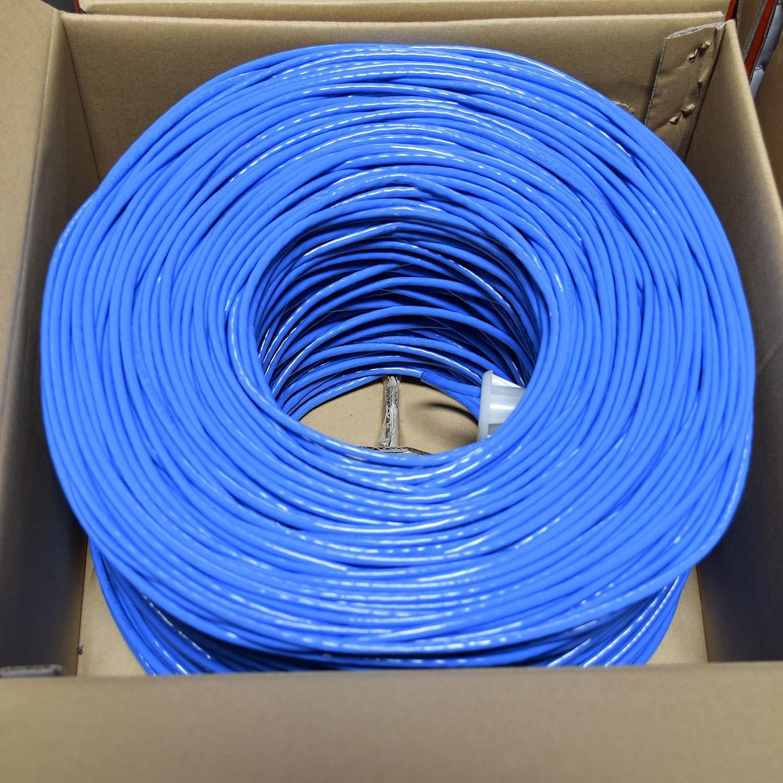 Premiertek 1000Ft Cat6 23AWG UTP Solid 4-Pairs Network Ethernet LAN Cable Bulk Blue (CAT6-CCA-1KFT-BL)