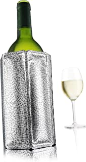 Vacu Vin 38803606 Rapid Ice Active Cooler Wine Bottle Chilling Sleeve, Standard, Silver