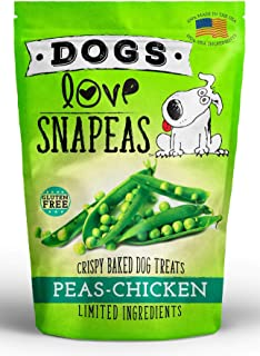 Dogs Love Snapeas Crunchy Dog Treats, Gluten and Wheat Free, 2.5 Ounce Bag