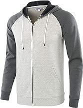 HARBETH Men's Athletic Fit Full Zip Fleece Hooded Sweatshirt Active Hoodie