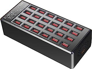 100w 24(20A) Port USB Fast Charging Station,Travel Desktop USB Rapid Charger,Multi Ports Charging Station Organizer Compat...
