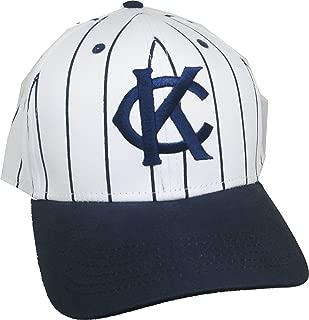 Cultural Exchange Big Boy Kansas City Monarchs 1924 Replica Mens Baseball Cap [White/Navy Blue
