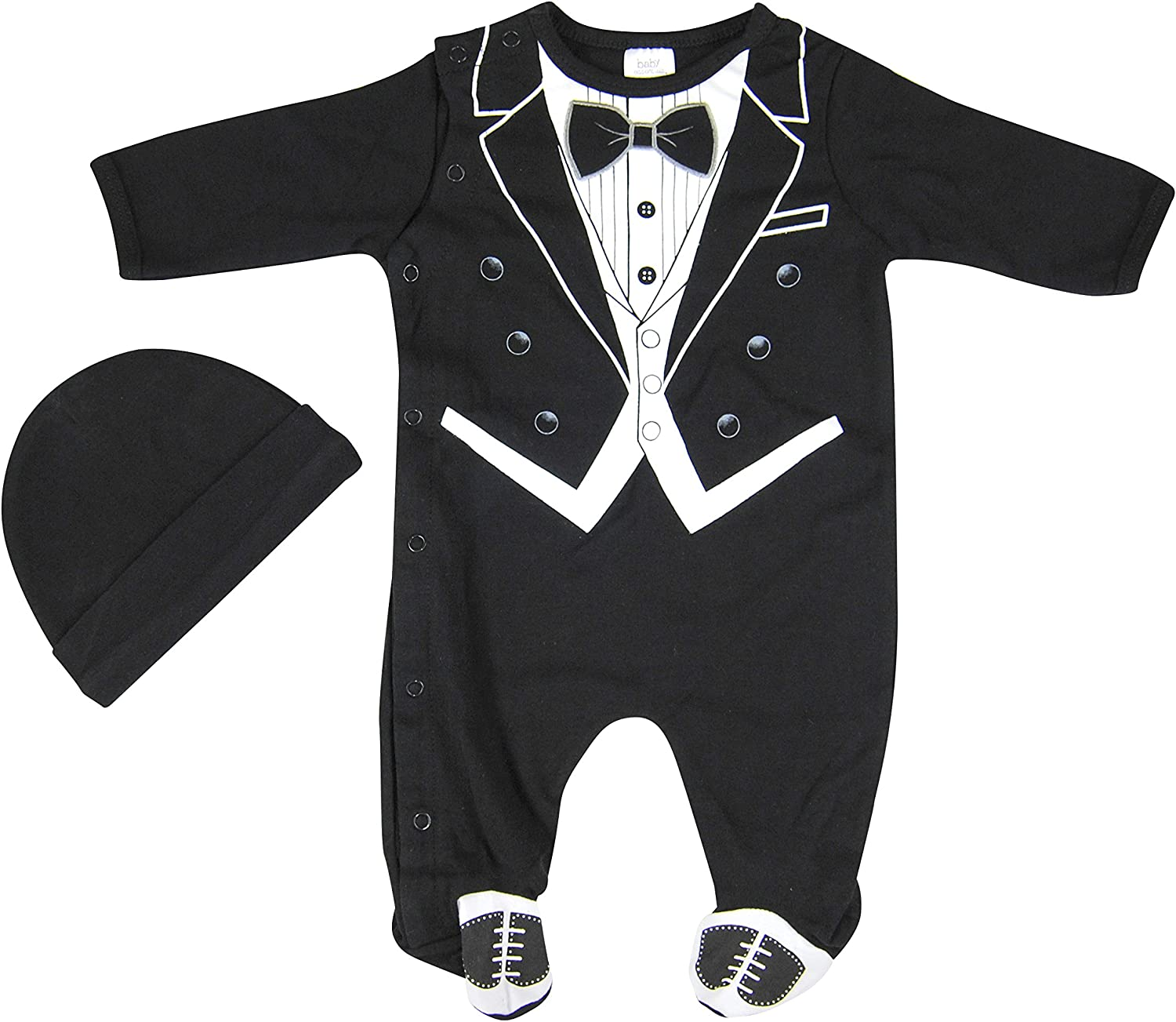 Hope Balloon Baby Purchase Boy's 2 Rapid rise Piece with Hat Matching Sleeper Tuxedo
