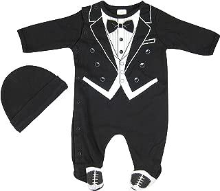Hope Balloon Baby Boy's 2 Piece Tuxedo Sleeper with Matching Hat