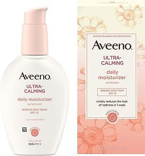 Aveeno Ultra-Calming Daily Moisturizer For Sensitive Skin With Broad Spectrum Spf 15, 4 fl. oz.