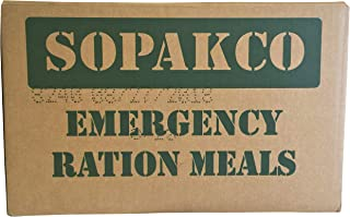8/2018 Pack Date - 8/2023 expiration SOPAKCO with 16 Sure-Pak MREs-Reduced Sodium Food Rations-Meals Ready To Eat-2018 Man...