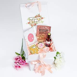 UntilDaEnd | Luxury Bridesmaid Proposal Box with Blush Pink Satin Interior | Gold Foil Design| Set of 5 Empty Boxes | (5)