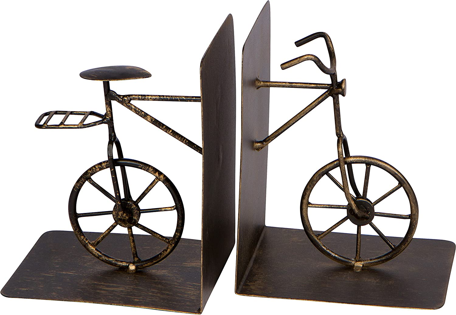 8  Metal Bicycle Bookends Set - Vintage Style by Trademark Innovations
