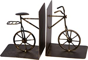 """Trademark Innovations 8"""" Metal Bicycle Bookends Set - Vintage Style"""
