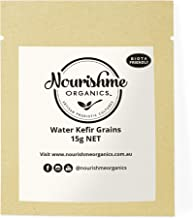 Water Kefir Grains to Make Your own Homemade Water Kefir Drink with Real Live Fresh and Organic Tibicos by Nourishme Organics- 15g