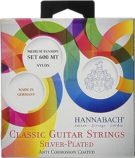 Hannabach 652257 Cuerdas para guitarra clásica serie 600 juego Tensión Media Plateado 600MT