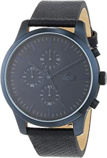 Lacoste Men's Blue Dial Leather Band Watch - 2010948