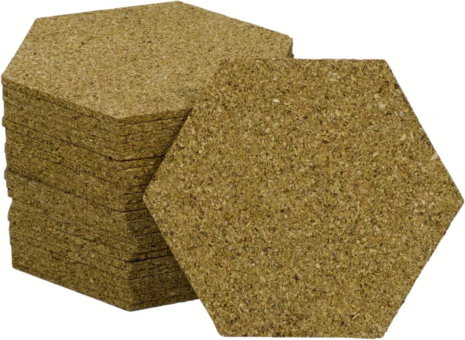 by Iconikal 24 Hexagon Cork Coasters 1//8-inch Thick Cork