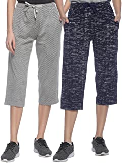 SHAUN Women's Loose Fit Capri (Pack of 2)
