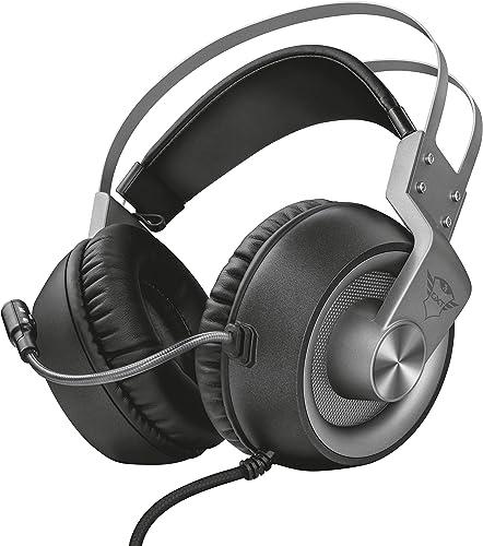 Trust GXT 4374 Ruptor - Auriculares Gaming, Unidades Acústicas de 50 mm, Control del Volumen e Interruptor para Silen...
